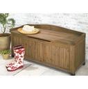 ルーフバルコニーにおススメです。ゆったり座れて、収納もたっぷり 天然木製ベンチ収納 幅120cm