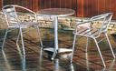 ベランダガーデンにぴったり♪ アルミ 丸テーブル60 &アルミ チェア YC001 3点セット