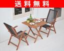 【送料無料】 山善(YAMAZEN) ガーデンマスター フォールディング テーブル&チェア(3点セット) MFT-88192&MFC-259(2脚)